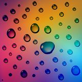 Rainbow abstract background and water drops vector. Art vector illustration