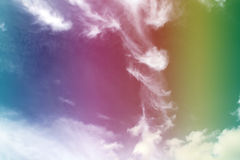 Rainbow, Abstract Cirrus Clouds Background Texture. Rainbow, Abstract Cirrus Clouds Swirling Background Texture royalty free stock photos