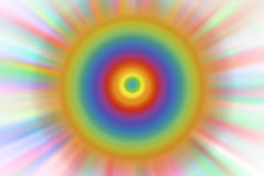 Rainbow Abstract colored background radius blur Stock Images