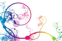 Rainbow Abstract Curving Line Vines Royalty Free Stock Image