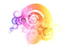 Rainbow Abstract Design Background Stock Photo
