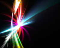 Rainbow Abstract Fractal Royalty Free Stock Image