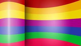 Rainbow abstract geometric form . Stock Image