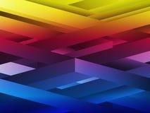 Rainbow abstract geometric lines royalty free illustration