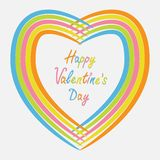 Rainbow abstract heart frame. Flat design. Happy Stock Images