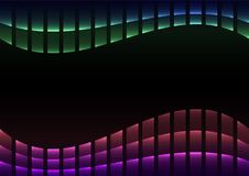 Rainbow abstract pixel curve background. Spectrum square layer line, technology geometric background, vector illustration royalty free illustration
