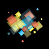 Rainbow abstract square Royalty Free Stock Photography