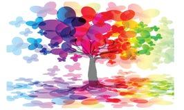 Rainbow abstract tree illustration Stock Photo