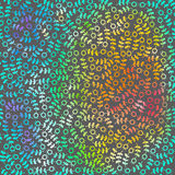 Rainbow abstract vector background with  doodle Stock Photo