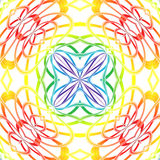 Rainbow abstraction mandala. Abstract computer graphic mandala in colors of the rainbow Stock Photography