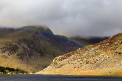 Rainbow across the Ogwen Valley Royalty Free Stock Photos