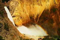 A rainbow across Upper Falls Stock Images