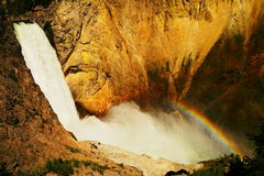 A rainbow across Upper Falls Royalty Free Stock Photography