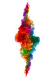 Rainbow of Acrylic Ink in Water. Color Explosion royalty free stock photos