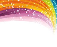Rainbow advertising background template Royalty Free Stock Images