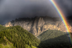 Rainbow afetr the thunderstorm Royalty Free Stock Photo