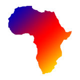 Rainbow africa map Royalty Free Stock Image