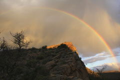 Rainbow africano Fotografia Stock