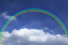 Rainbow  against blue sky Royalty Free Stock Photos