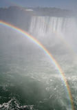 Rainbow Against the Falls Royalty Free Stock Image