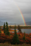 Rainbow in Alaska royalty free stock images