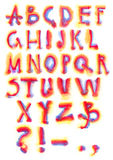 Rainbow alphabet Royalty Free Stock Images