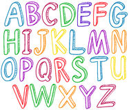 Rainbow alphabet Stock Image