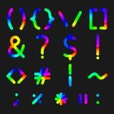 Rainbow alphabet symbols, vector illustration. Stock Photography