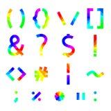 Rainbow alphabet symbols, vector illustration. Royalty Free Stock Photos
