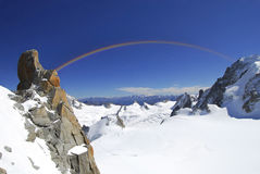 Rainbow at the Alps Stock Image