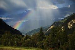 Rainbow in the Alps Stock Image