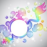 Rainbow angel Royalty Free Stock Photo