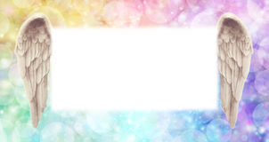 Rainbow Angel Wings Message Board Royalty Free Stock Image