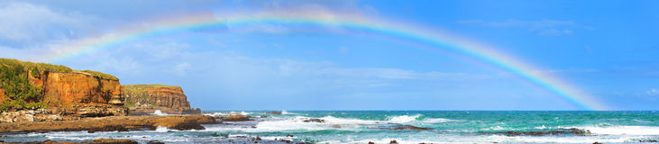 Rainbow ans sea Royalty Free Stock Photos