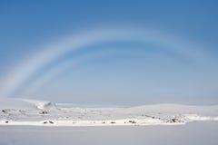 Rainbow in Antarctica Stock Photo