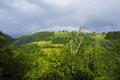 Rainbow in Apuseni Mountains Stock Images