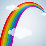 Rainbow arc Stock Photography