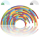 Rainbow Arch Arrows Stock Photography