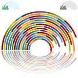 Rainbow Arch Arrows. An image of rainbow arch arrows Stock Photography