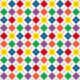 Rainbow Argyle Border. Border of bright rainbow colored argyle pattern with space for text Royalty Free Stock Images