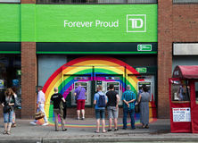 Free Rainbow Around TD Bank ATMS Royalty Free Stock Photography - 41949627
