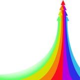 Rainbow Arrow Stock Image