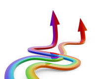 Rainbow arrow Stock Image