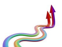 Rainbow arrow. Wander on white background Stock Image