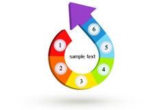 Rainbow arrow. A Colourful 3d Rendered arrow vector illustration Stock Photos