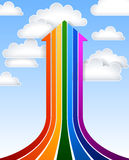 Rainbow arrow Royalty Free Stock Photography