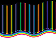 Rainbow arrow Stock Images