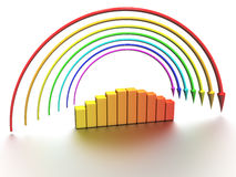 Rainbow of the arrows �2 Stock Photography