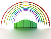 Rainbow of the arrows �3 Royalty Free Stock Photography