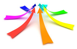 Rainbow arrows Stock Photos